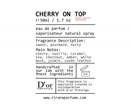sticker cherry on top box